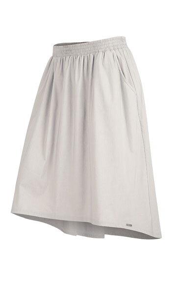 6e5ef0de5ea4 Sivá dámska sukňa Litex 58041 s dlhším zadným dielom