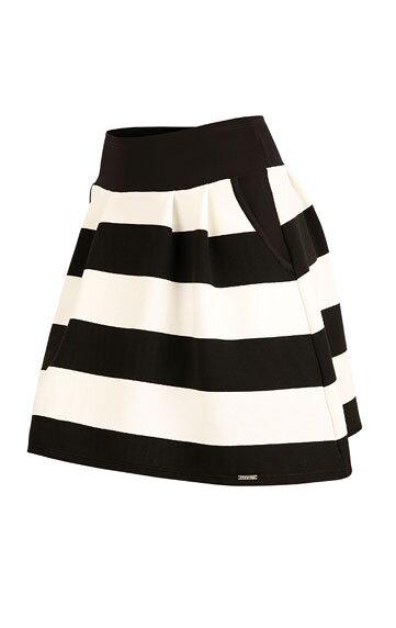 a1ecbdfe6085 Pruhovaná dámska sukňa s vreckami čierno - biela
