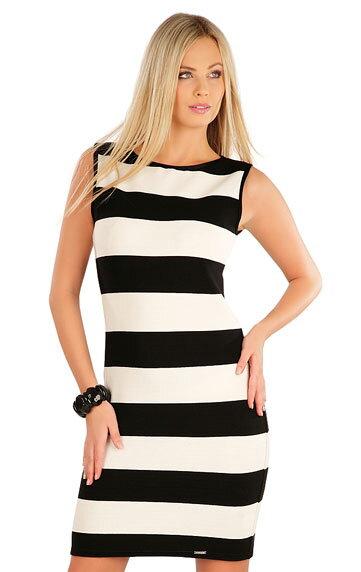 9d000abcb449 Pruhované dámske šaty bez rukávov Litex 58049