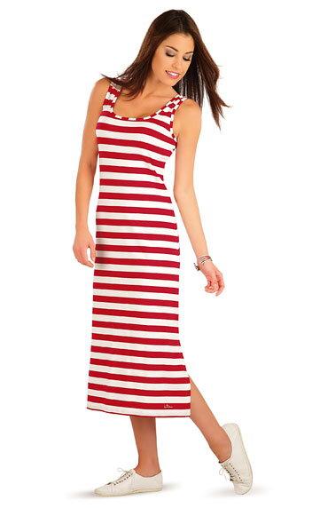 b377a7a27110 Pruhované dámske šaty letné bielo - červené
