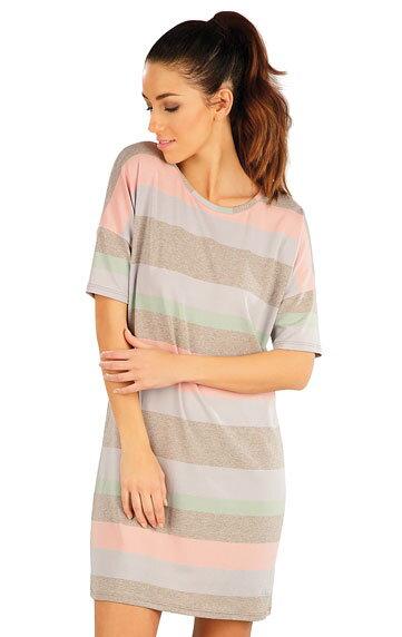 661896051a11 Letné šaty dámske s krátkym rukávom pruhované Litex 58059