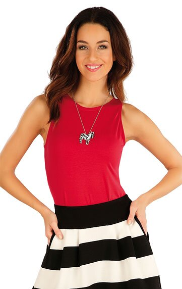 11f148055c6a Červené dámske tielko - tričko na ramienka dámske Litex 58127 z viskózy