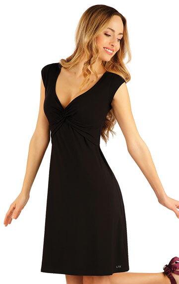 bd8a7c8dd0e0 Čierne dámske šaty s krátkym rukávom Litex 58145 z viskózy ...