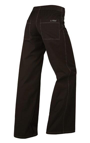 13e40dbfaecc Dámske čierne nohavice voľné s vreckami Litex 58219